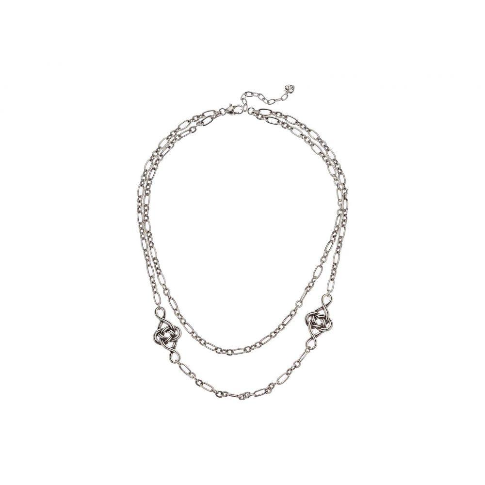 ブライトン Brighton レディース ネックレス ジュエリー・アクセサリー【Interlok Knot Layer Necklace】Silver