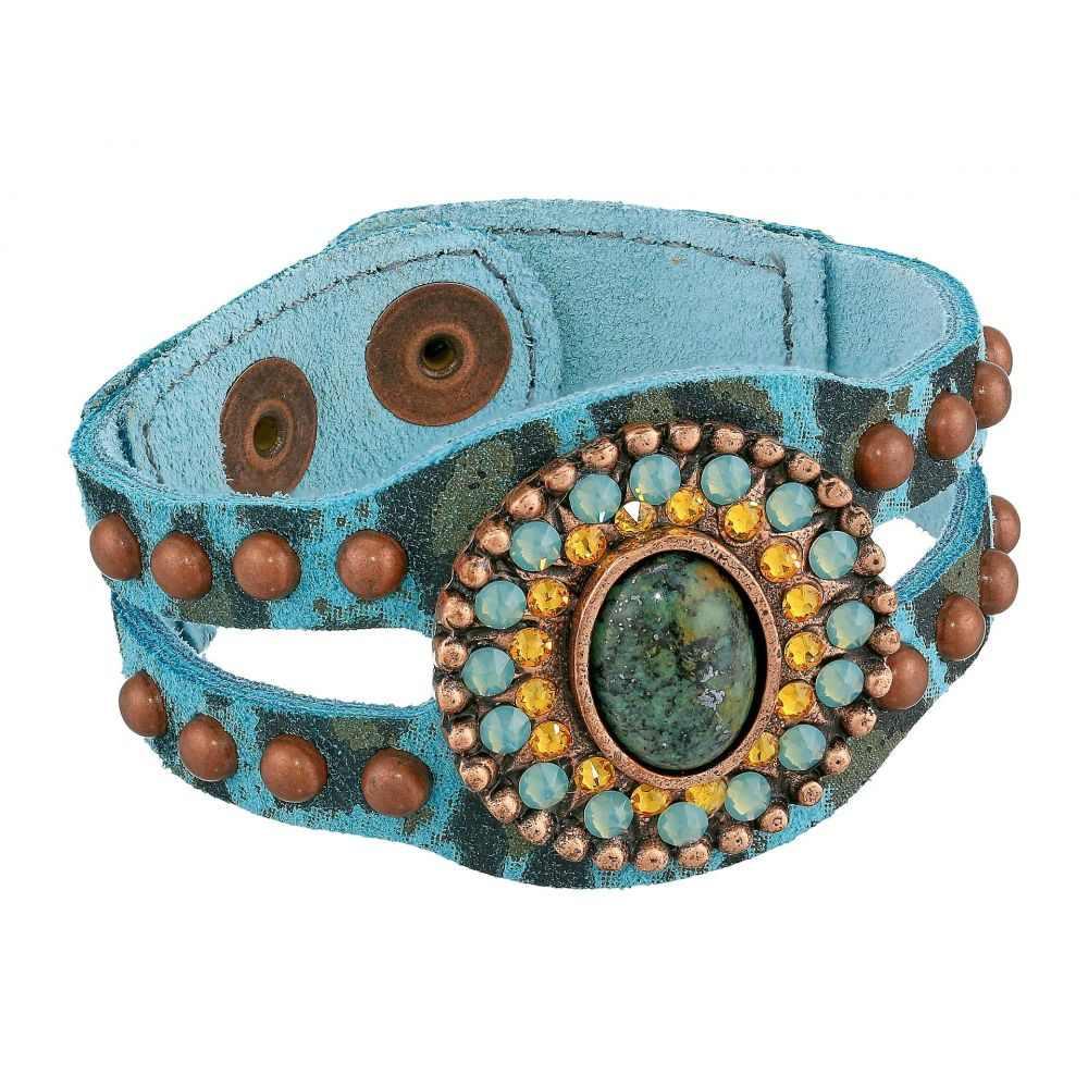 レザロック Leatherock レディース ブレスレット ジュエリー・アクセサリー【Ember Bracelet】Turquoise Leopard