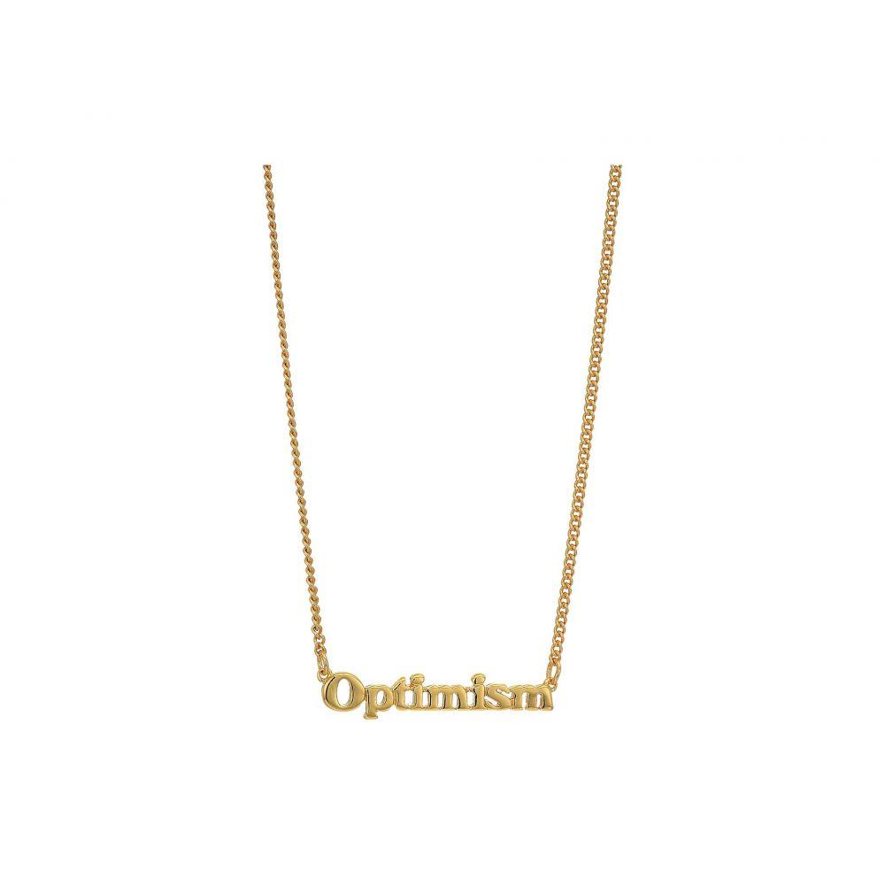 バン ドー ban.do レディース ネックレス ジュエリー・アクセサリー【24K Gold Plated Good Intentions Necklace】Gold/Optimism