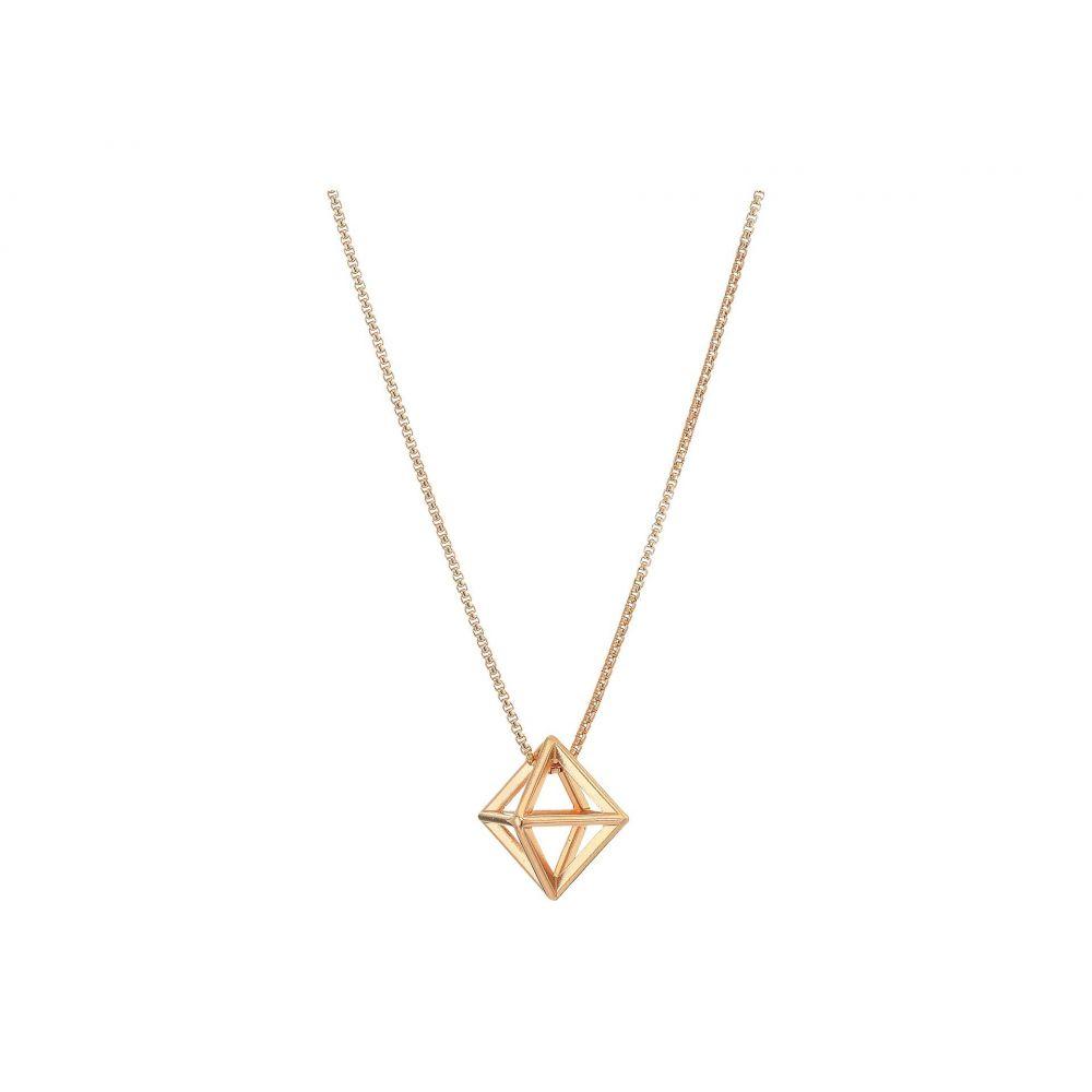 アレックス アンド アニ Alex and Ani レディース ネックレス ジュエリー・アクセサリー【18' Octahedron Adjustable Necklace】KT Rose Gold Plated