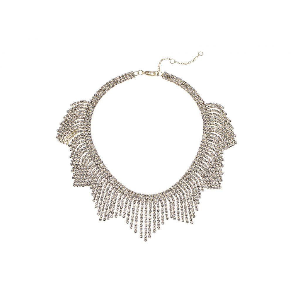 ニナ Nina レディース ネックレス ジュエリー・アクセサリー【Crystal Fringe Bib Necklace】Gold/White Crystal