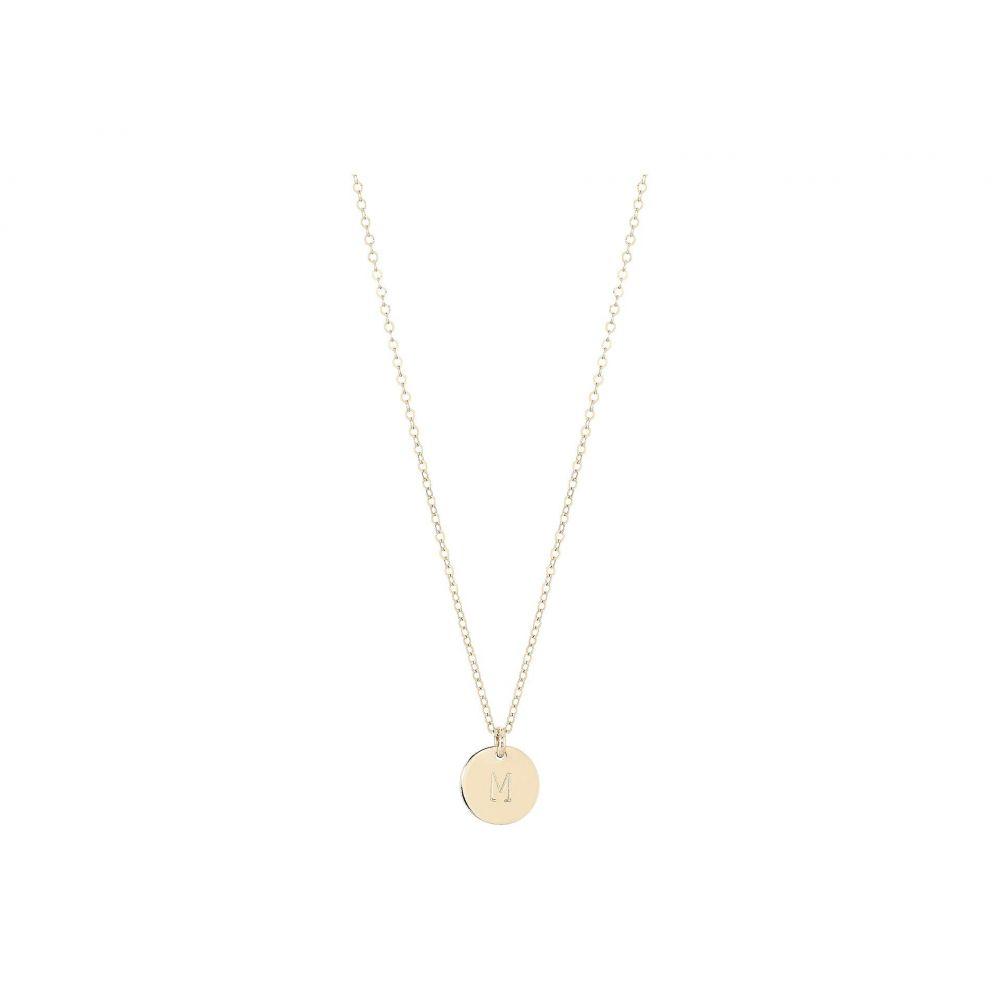 エイブル ABLE レディース ネックレス ジュエリー・アクセサリー【Mini Tag M Necklace】Gold