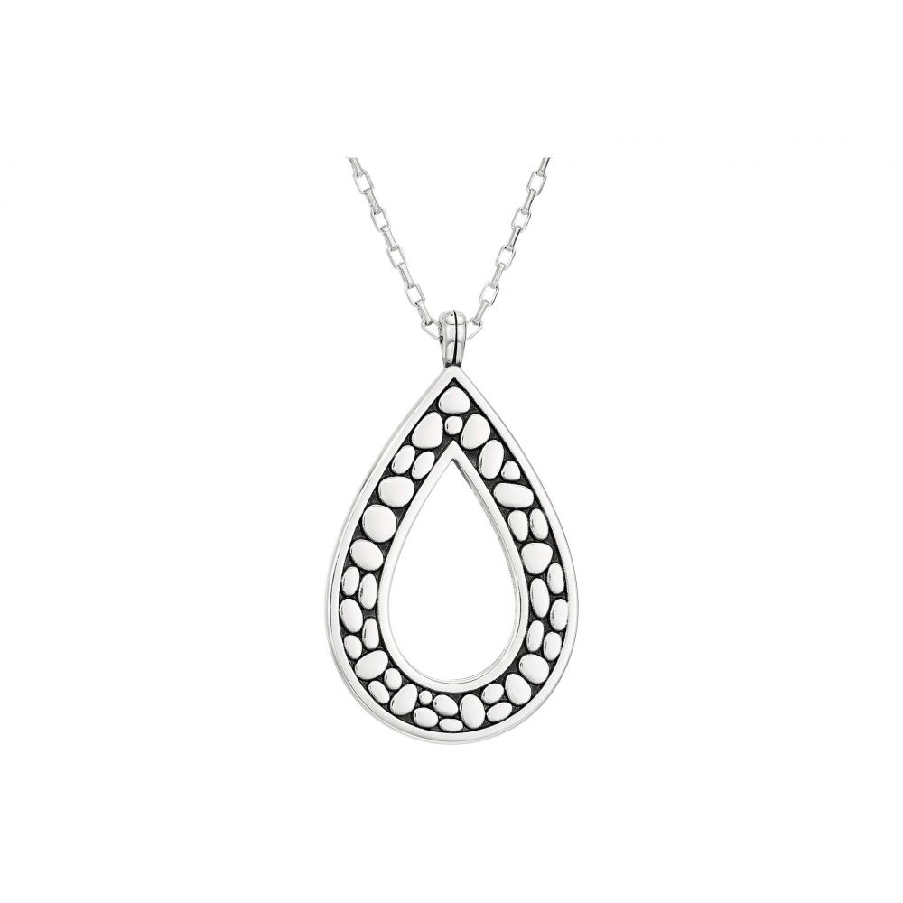 ブライトン Brighton レディース ネックレス ジュエリー・アクセサリー【Pebble Open Tear Drop Necklace】Silver