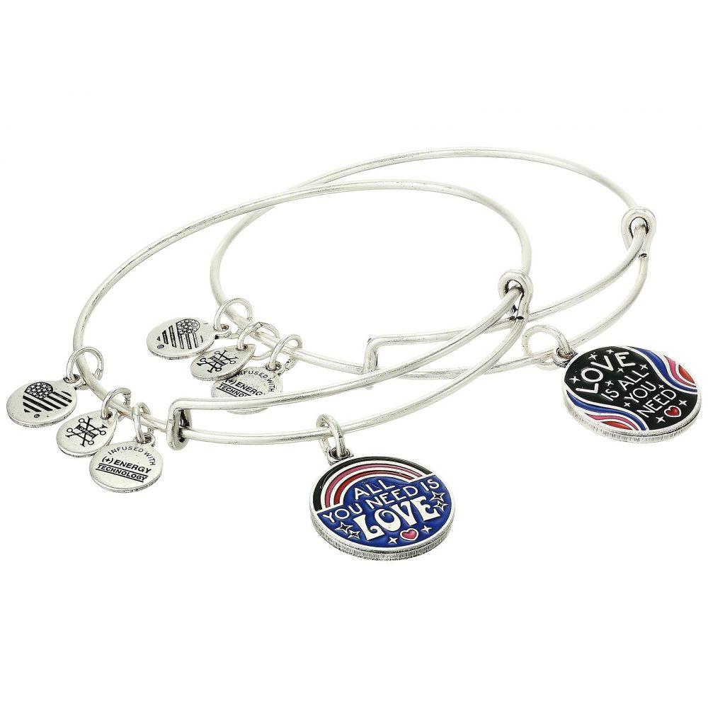 アレックス アンド アニ Alex and Ani レディース ブレスレット ジュエリー・アクセサリー【All You Need Is Love Bracelet Set of 2】Rafaelian Silver