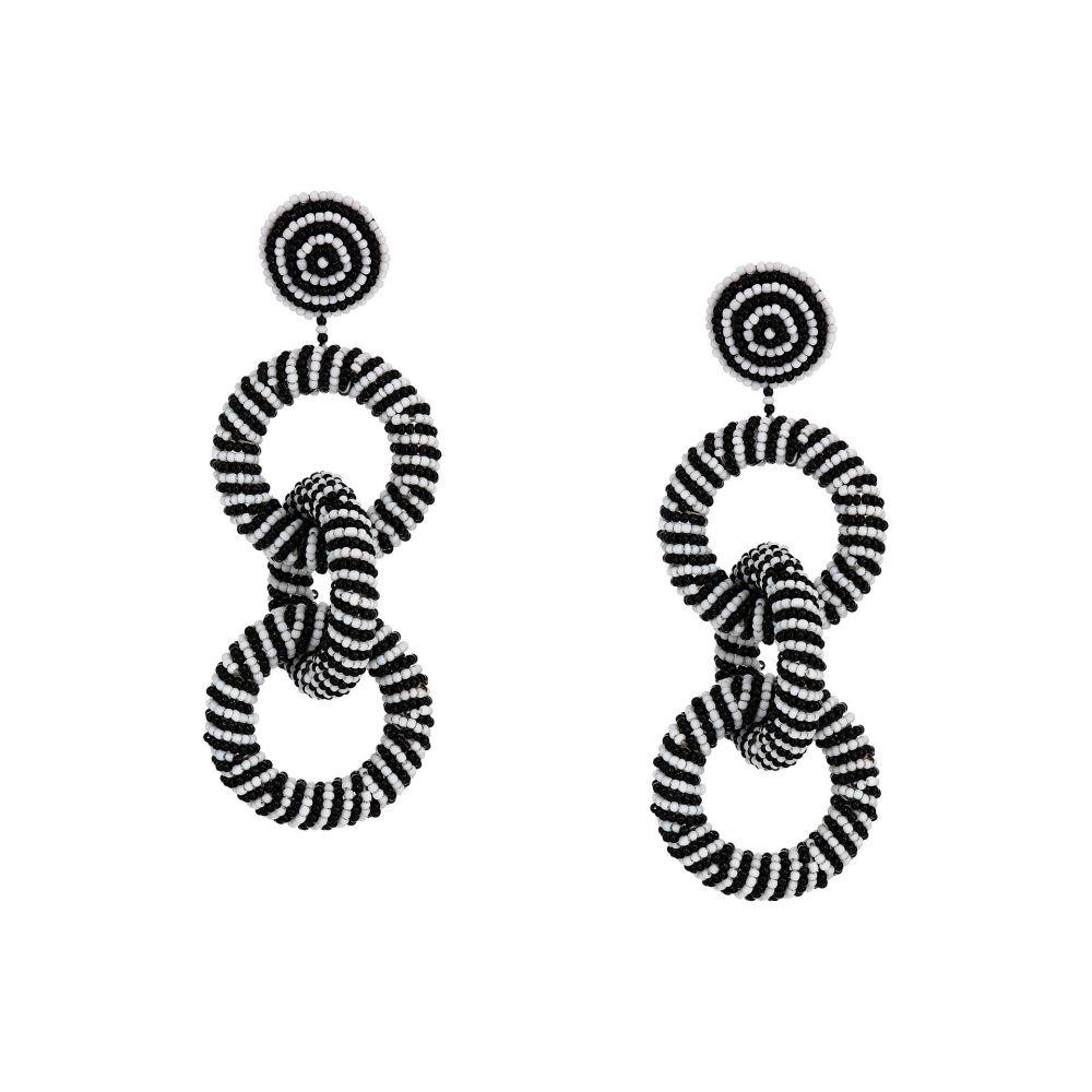 ケネスジェイレーン Kenneth Jay Lane レディース イヤリング・ピアス ジュエリー・アクセサリー【4' Black/White Seedbead Three Rings Post Earrings】Black/White