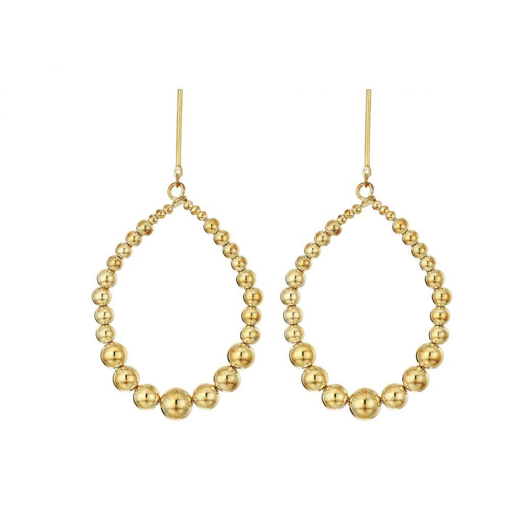 ケネスジェイレーン Kenneth Jay Lane レディース イヤリング・ピアス ジュエリー・アクセサリー【Polished Gold Balls Open Oval Direct Post Earrings】Polished Gold