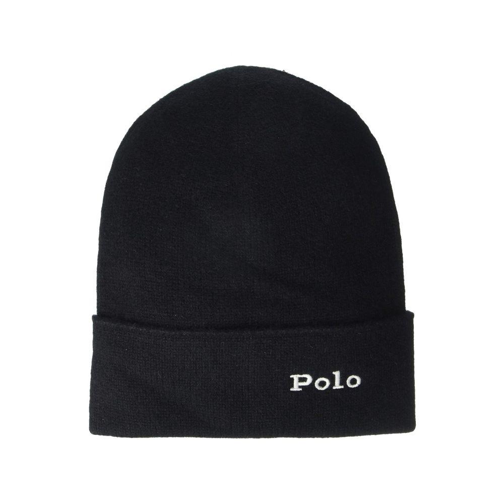 ラルフ ローレン Polo Ralph Lauren レディース ニット 帽子【Cashmere Cuff Hat】Black