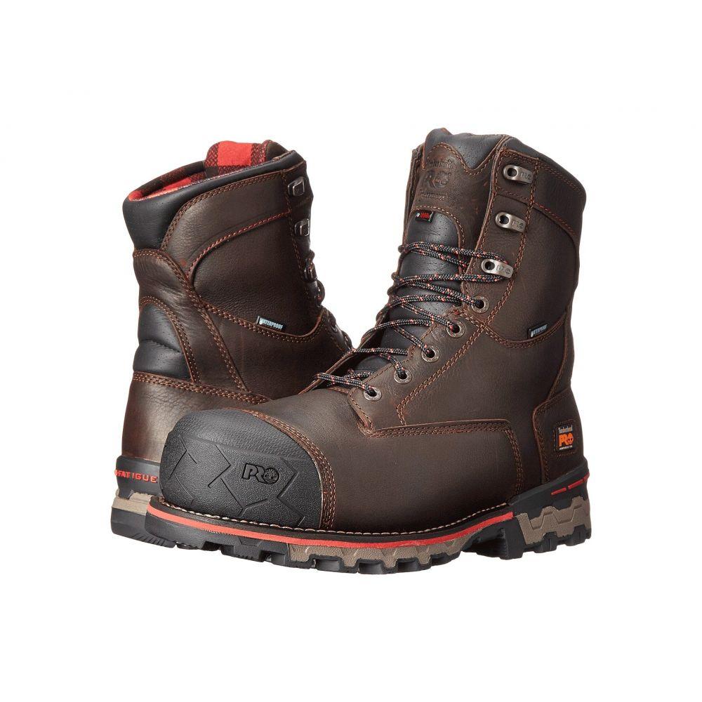 ティンバーランド Timberland PRO メンズ ブーツ シューズ・靴【8' Boondock 1000g Composite Safety Toe Waterproof Insulated】Brown Tumbled Leather