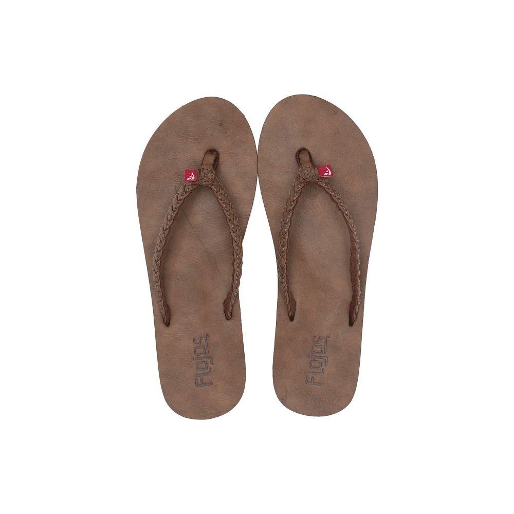 フロジョス Flojos レディース ビーチサンダル シューズ・靴【Harper】Tabacco
