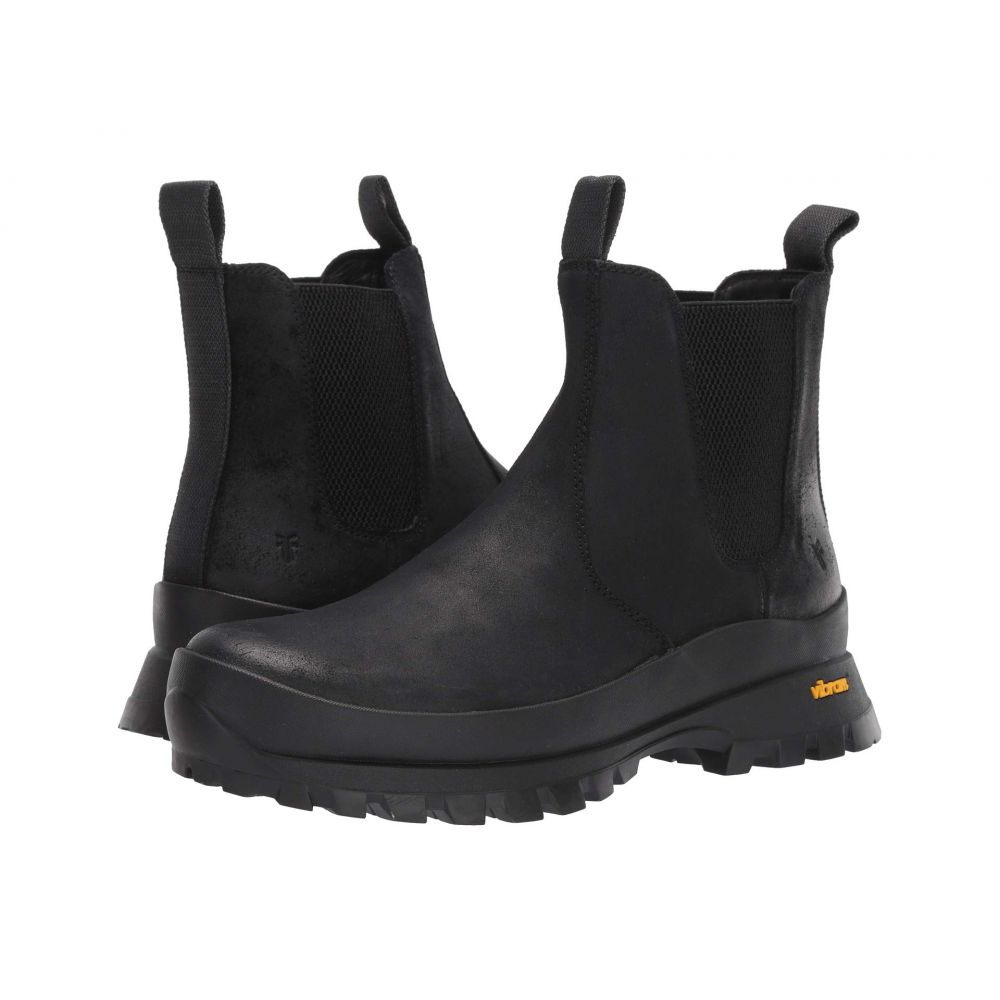 フライ Frye メンズ ブーツ チェルシーブーツ シューズ・靴【Korver Chelsea Boots】Black WP Waxed SUede/Waxy Canvas