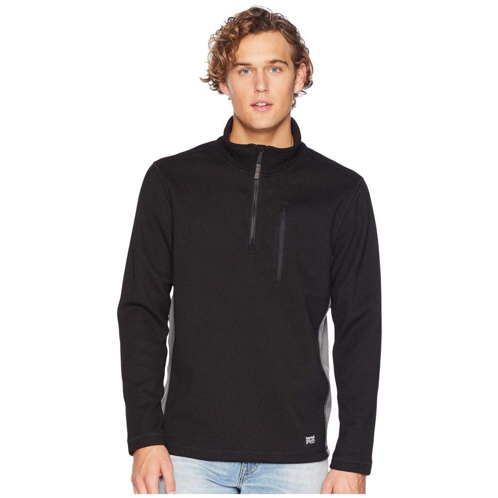 ティンバーランド Timberland PRO メンズ フリース トップス【Studwall 1/4 Zip Textured Fleece Top】Black