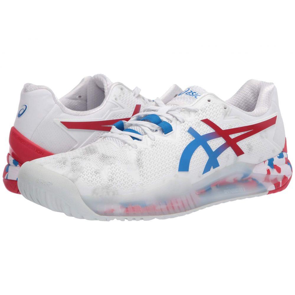 アシックス ASICS メンズ テニス シューズ・靴【Gel-Resolution 8】White/Electric Blue