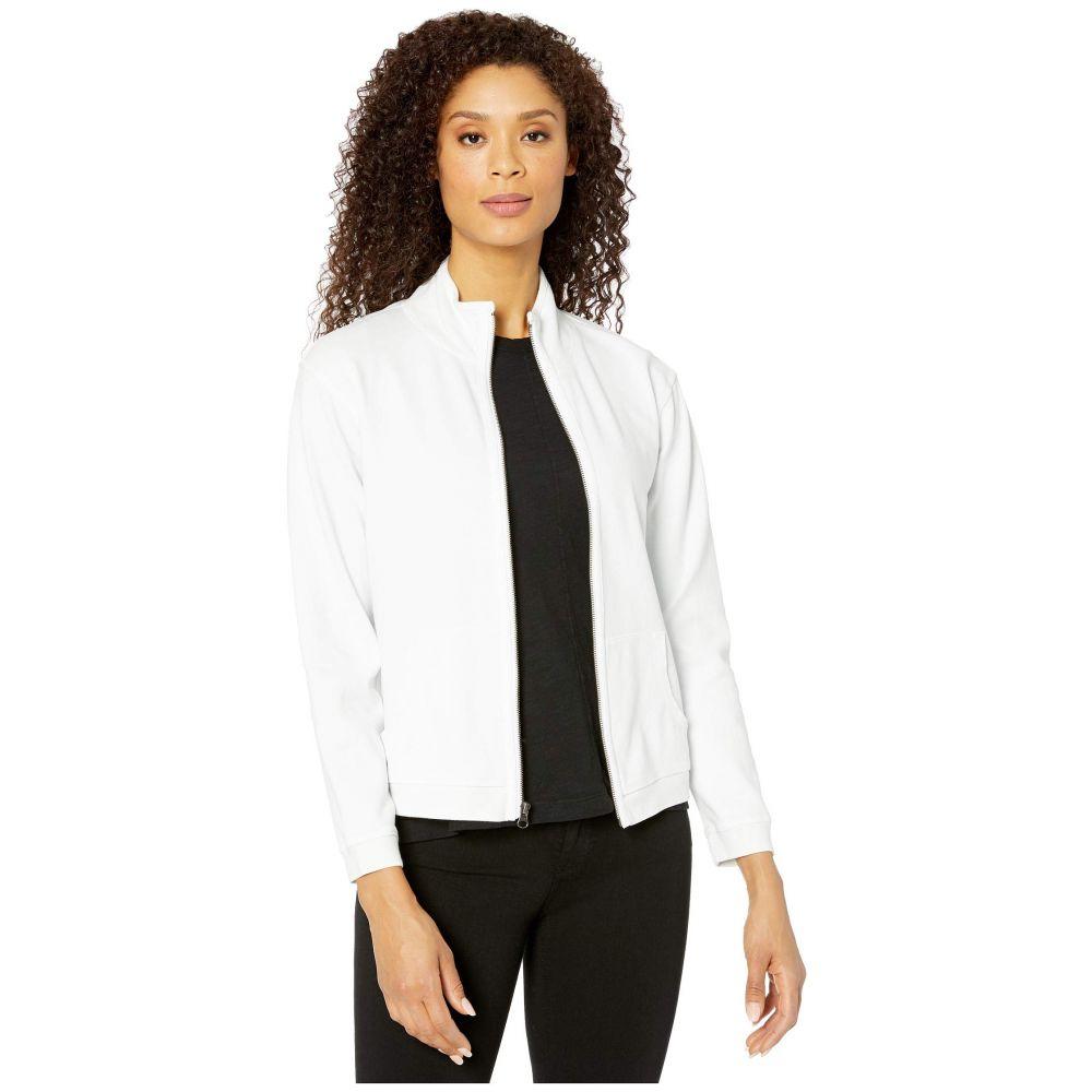 モドオードック Mod-o-doc レディース トップス 【Cotton Interlock Zip Front Funnel Neck Jacket】White