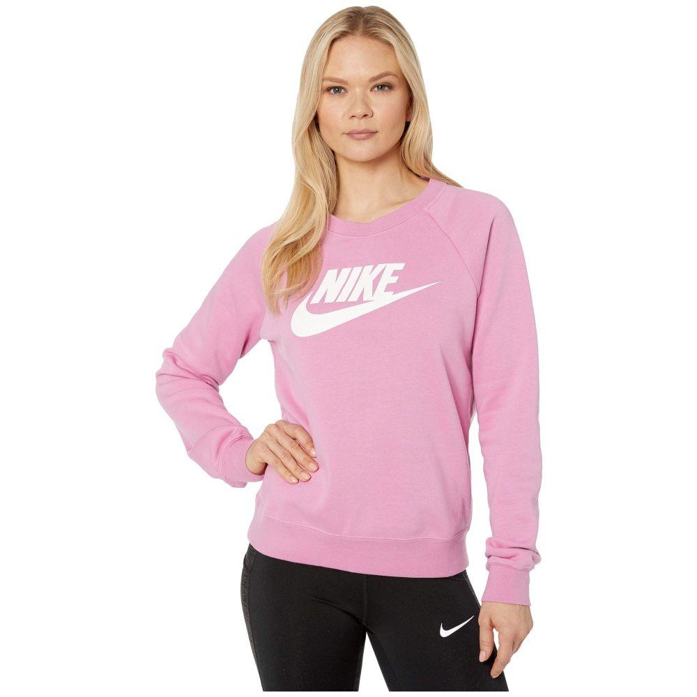 ナイキ Nike レディース フリース トップス【NSW Essential Crew Fleece HBR】Magic Flamingo/White