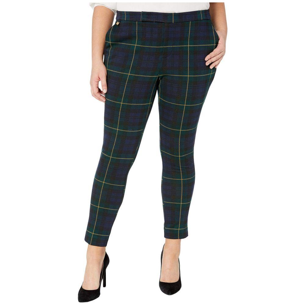 ラルフ ローレン LAUREN Ralph Lauren レディース ボトムス・パンツ 大きいサイズ【Plus Size Plaid Jacquard Pants】Black Multi