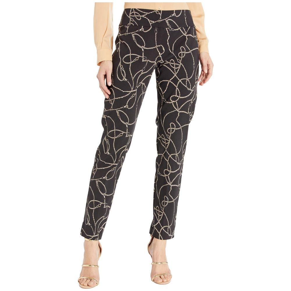 エリオットローレン Elliott Lauren レディース クロップド アンクル ボトムス・パンツ【Chain Link Pull-On Ankle Pants with Back Slit Detail】Black/Tan