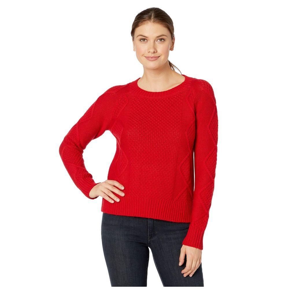 ペンドルトン Pendleton レディース ニット・セーター トップス【Diamond Cable Crew Sweater】Cherry Red