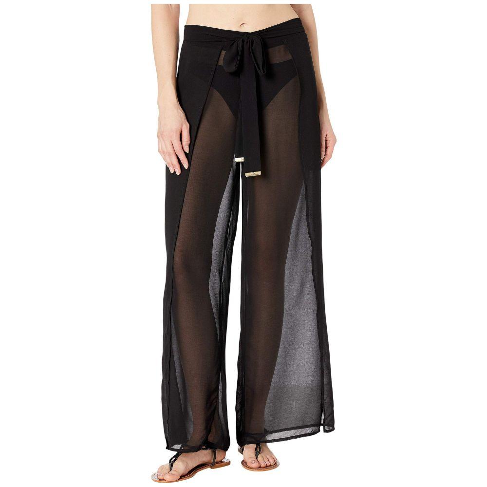マイケル コース MICHAEL Michael Kors レディース ビーチウェア ボトムス・パンツ 水着・ビーチウェア【Solids Cover-Up Pants with Belt】Black