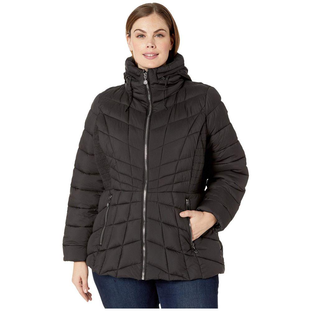ベルナルド ファッションズ Bernardo Fashions レディース ダウン・中綿ジャケット 大きいサイズ アウター【Plus Size EcoPlume Packable Puffer Jacket】Black