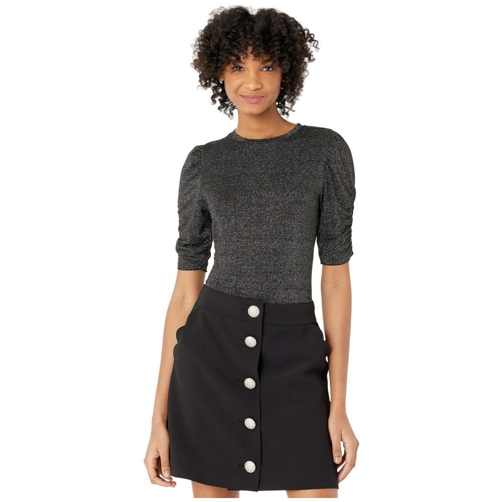 ケイト スペード Kate Spade New York レディース トップス 【Lurex Jersey Knit Top】Black