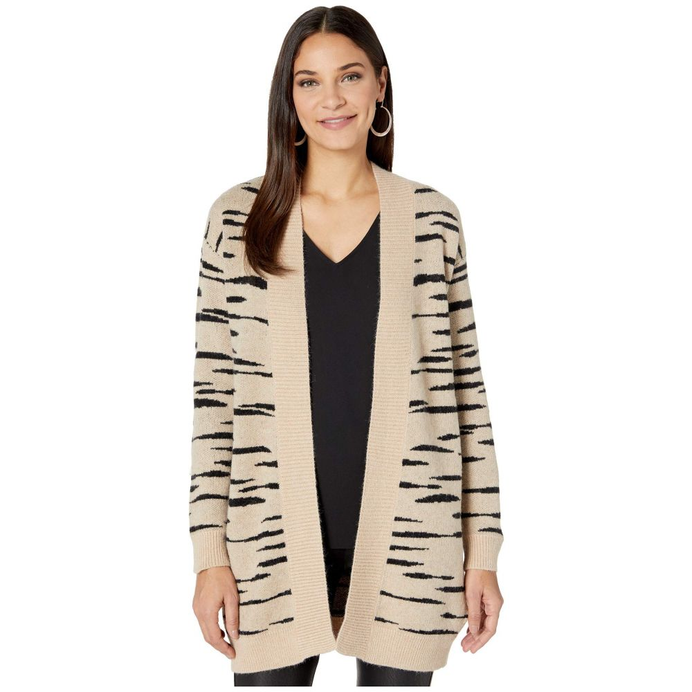 ビービーダコタ BB Dakota レディース カーディガン トップス【Soft Safari Abstract Zebra Jacquard Cardigan】Light Camel