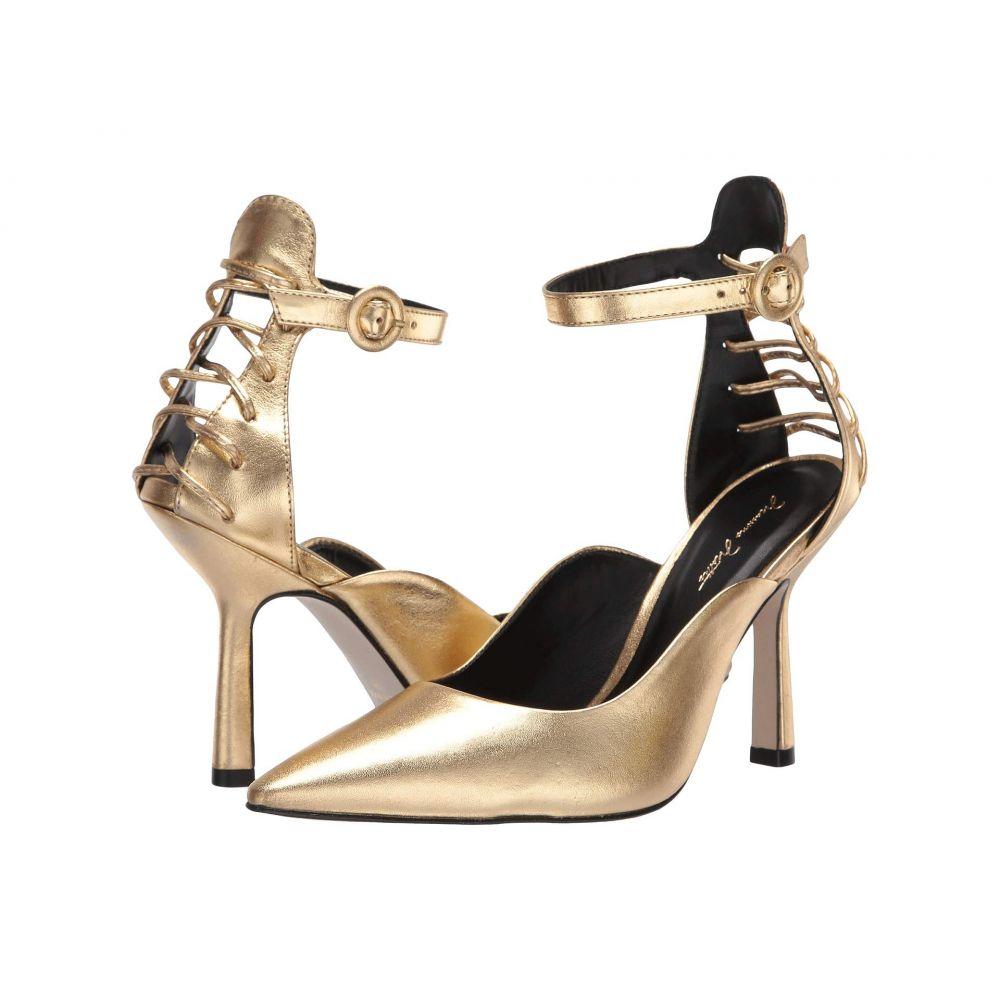 マッテオ マッシモ Massimo Matteo レディース パンプス アンクルストラップ シューズ・靴【Ankle Strap Pump 20】Gold Metallic