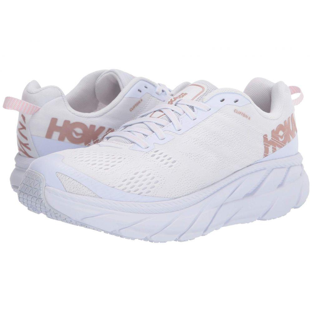 ホカ オネオネ Hoka One One レディース ランニング・ウォーキング シューズ・靴【Clifton 6】White/Rose Gold