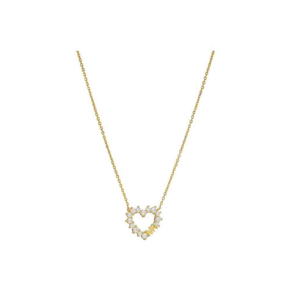 マイケル コース Michael Kors レディース ネックレス ハート ジュエリー・アクセサリー【Pave Heart Necklace】Gold Tone