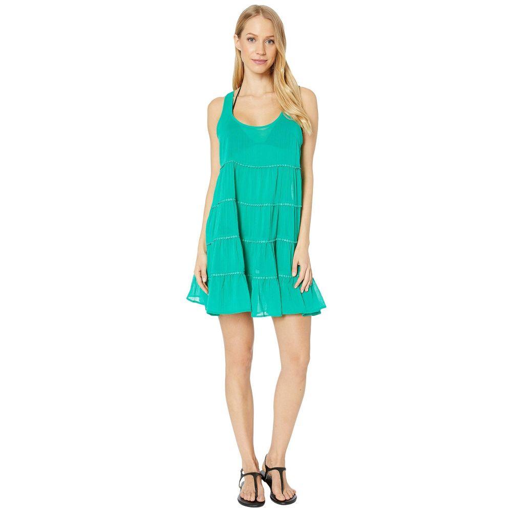 ケイト スペード Kate Spade New York レディース ビーチウェア ティアードドレス 水着・ビーチウェア【Solids Tiered Cover-Up Dress】Jade