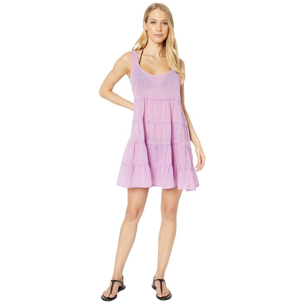 ケイト スペード Kate Spade New York レディース ビーチウェア ティアードドレス 水着・ビーチウェア【Solids Tiered Cover-Up Dress】Candied Lilac