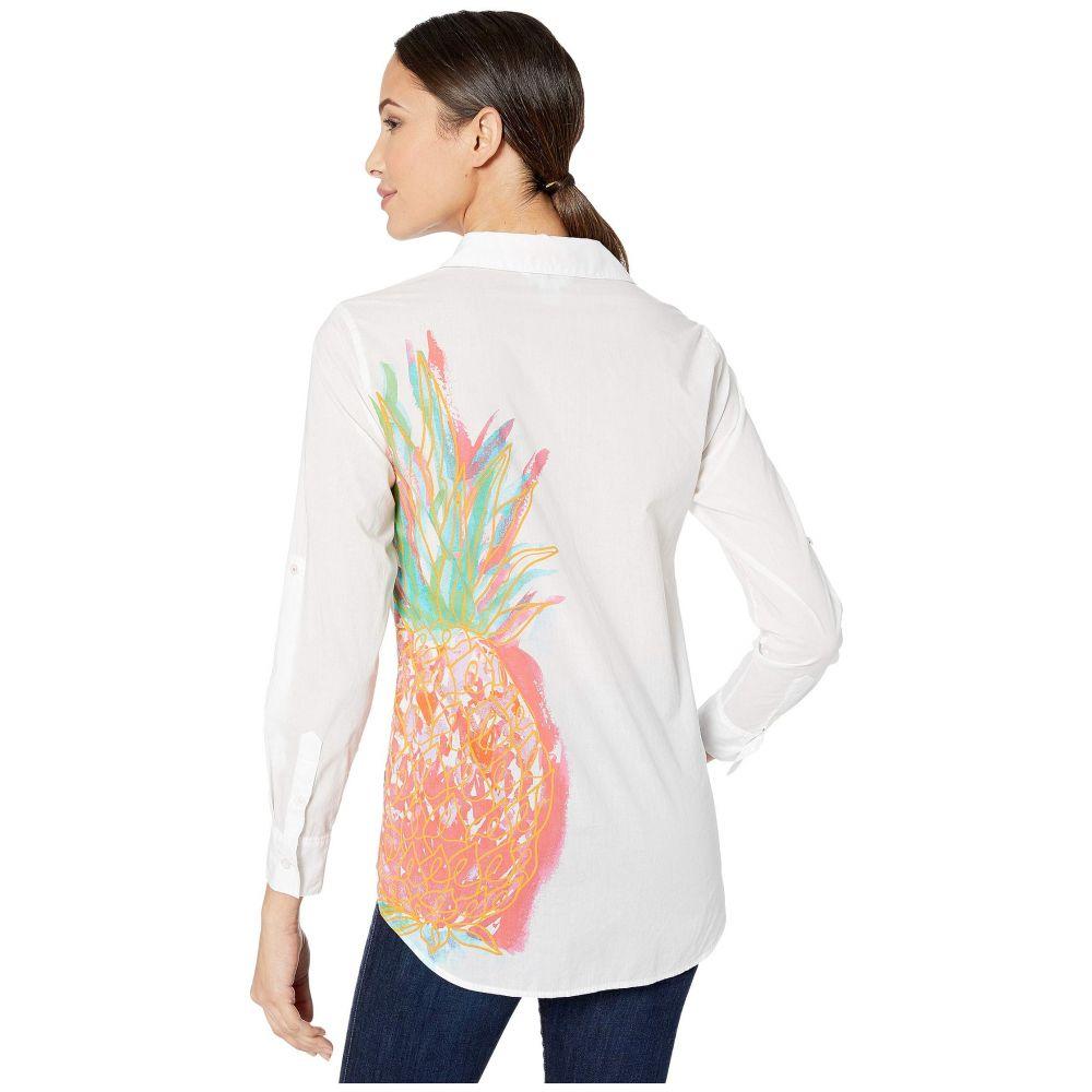 トミー バハマ Tommy Bahama レディース ブラウス・シャツ トップス【Punjab Pineapple Shirt】White