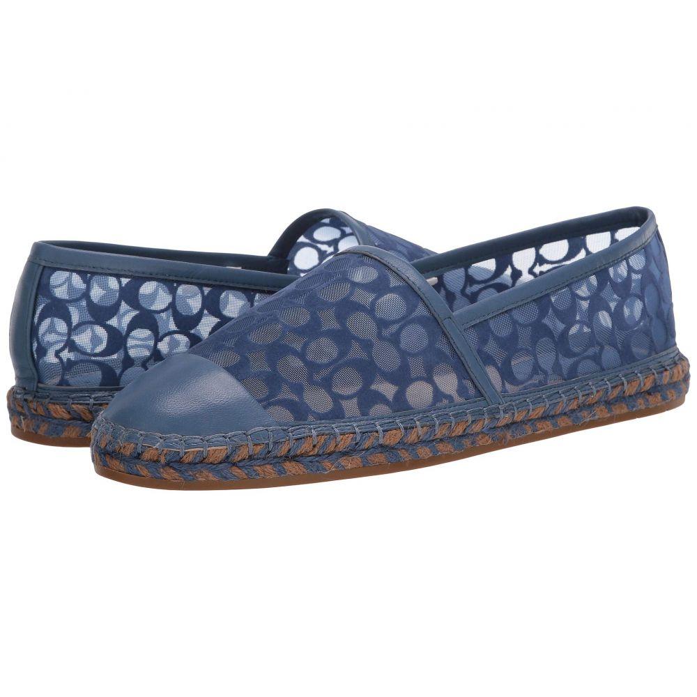 コーチ COACH レディース エスパドリーユ シューズ・靴【Cleo Espadrille】Stone Blue Signature C Mesh/Leather