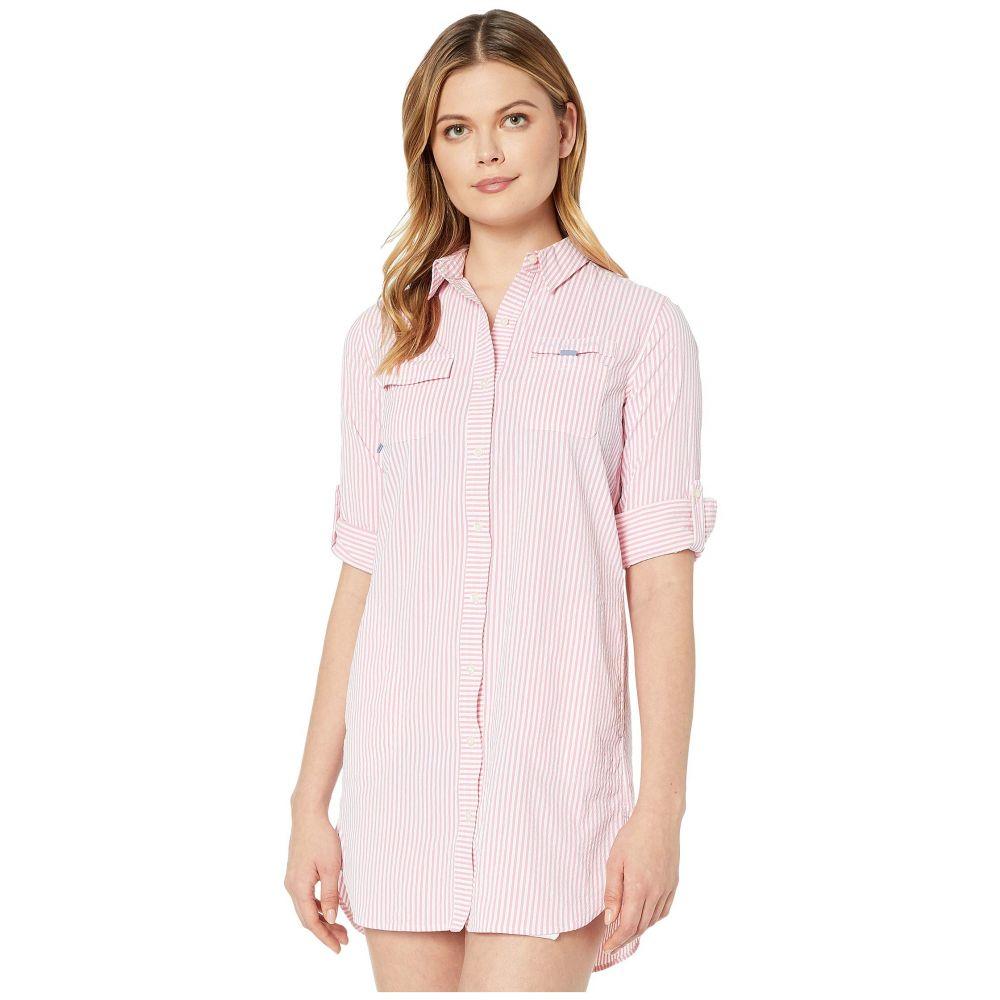ヴィニヤードヴァインズ Vineyard Vines レディース ビーチウェア トップス 水着・ビーチウェア【Seersucker Harbor Shirt Cover-Up】Washed Neon Pink