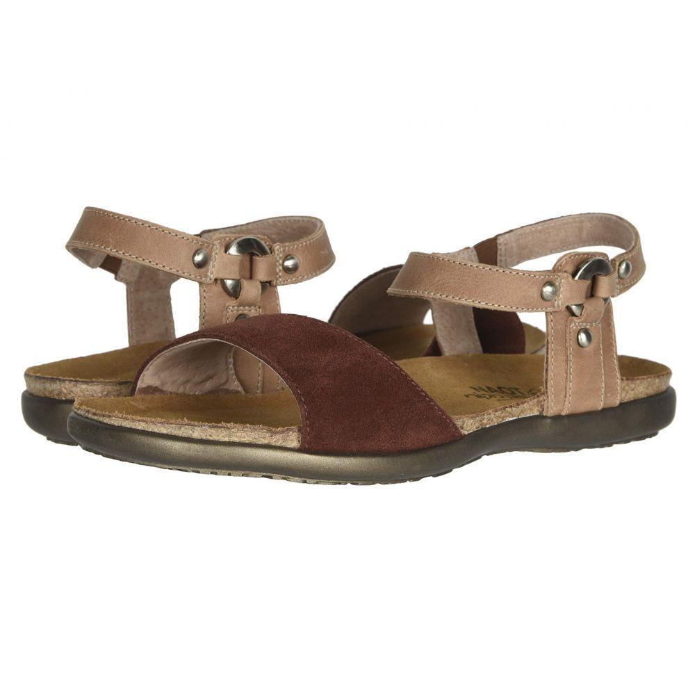 ナオト Naot レディース サンダル・ミュール シューズ・靴【Sabrina】Rust Suede/Latte Brown Leather