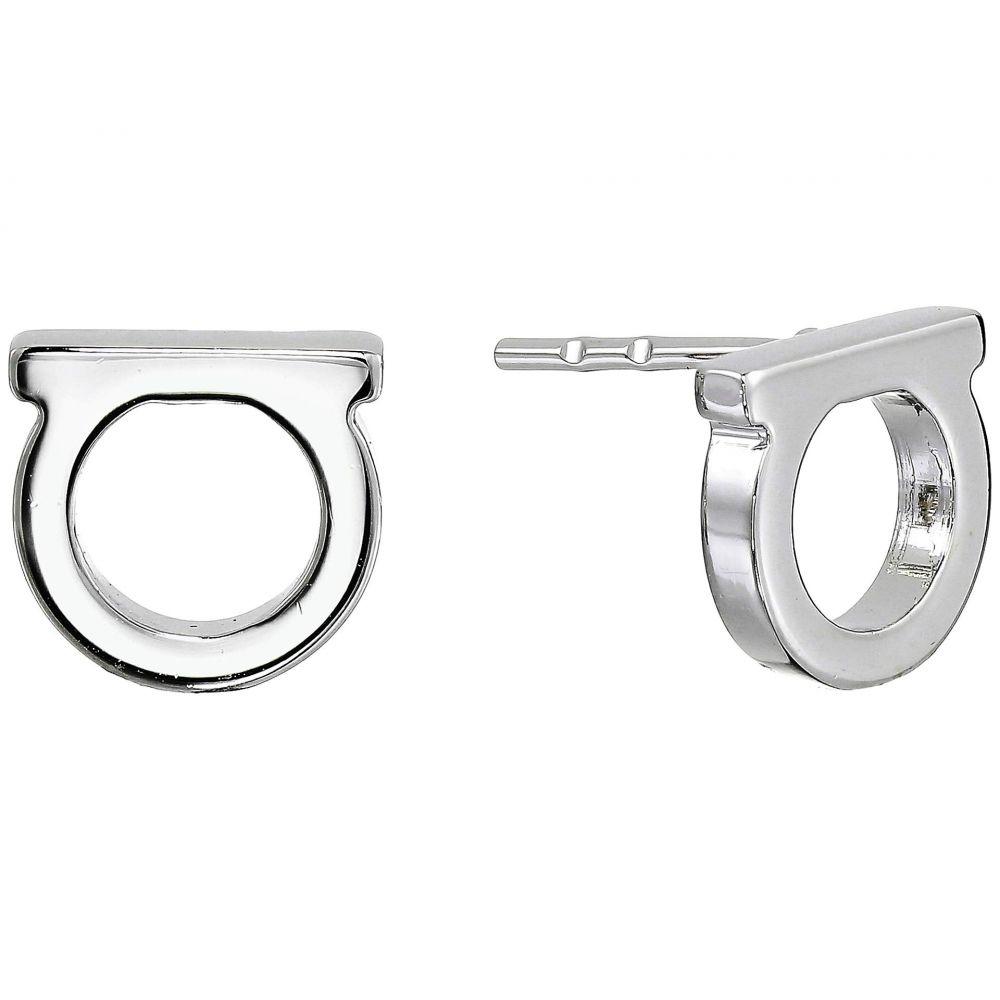 サルヴァトーレ フェラガモ Salvatore Ferragamo レディース イヤリング・ピアス ジュエリー・アクセサリー【Gancini Solid Stud Earrings】Silver-Tone