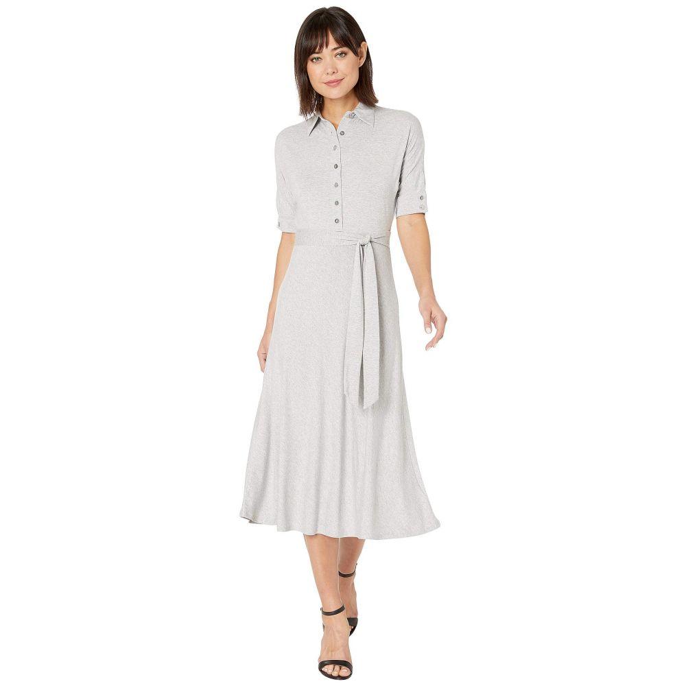 ラルフ ローレン LAUREN Ralph Lauren レディース ワンピース シャツワンピース ワンピース・ドレス【Belted Jersey Shirtdress】Pearl Grey Heather