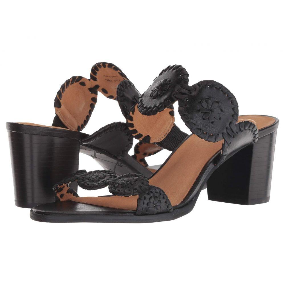 ジャックロジャース Jack Rogers レディース サンダル・ミュール シューズ・靴【Lauren Mid Heel】Black/Black