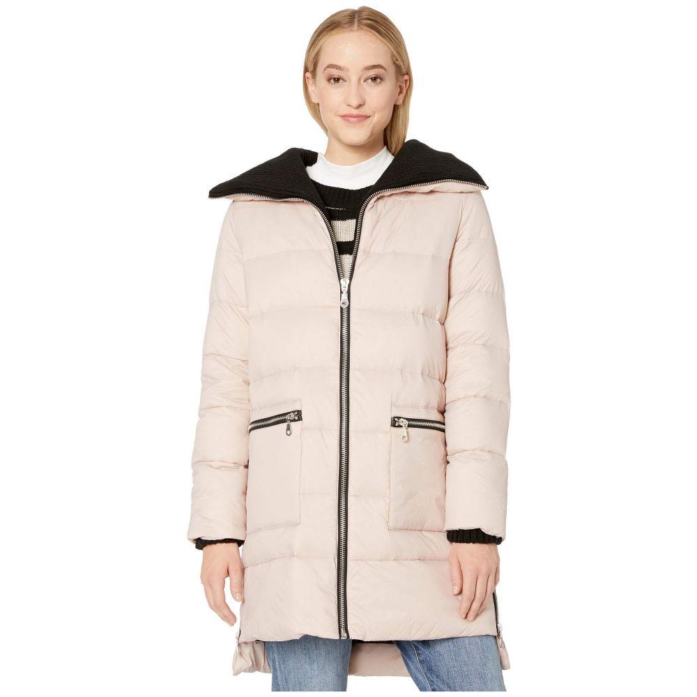 ビービーダコタ BB Dakota レディース ダウン・中綿ジャケット アウター【Cold Snap Down Filled Knit Collar Puffer Coat】Parchment