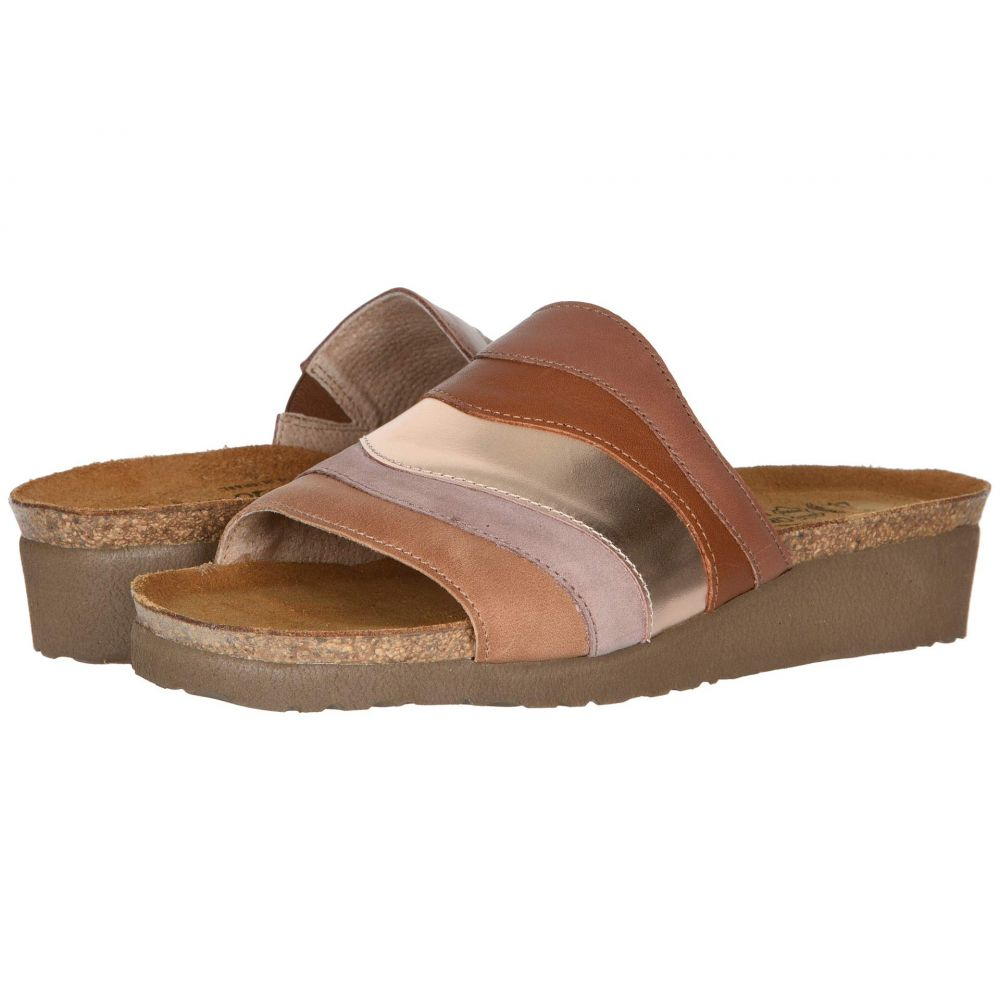 ナオト Naot レディース サンダル・ミュール シューズ・靴【Portia】Mocha Rose Leather Combination