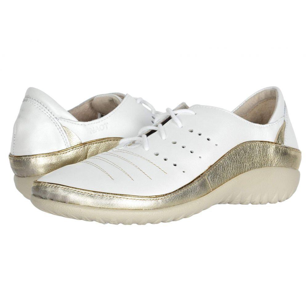 ナオト Naot レディース ローファー・オックスフォード シューズ・靴【Kumara】White Pearl Leather/Radiant Gold Leather