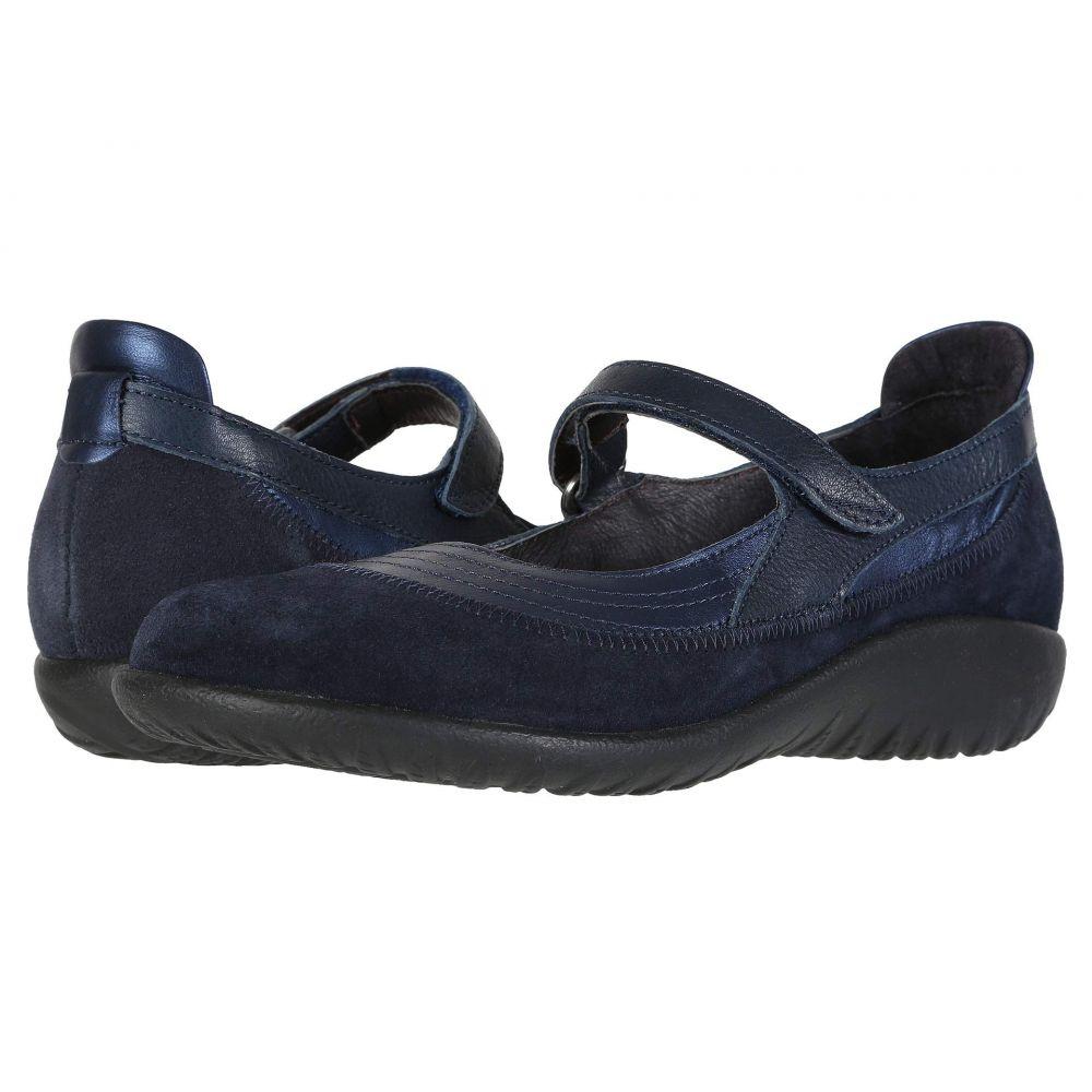 ナオト Naot レディース スリッポン・フラット シューズ・靴【Kirei】Polar Sea Leather/Blue Velvet Nubuck/Ink Leather