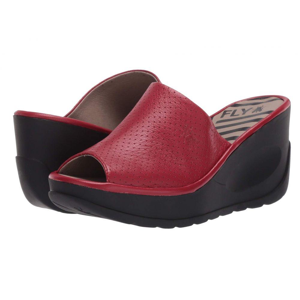 フライロンドン FLY LONDON レディース サンダル・ミュール シューズ・靴【JAVI149FLY】Lipstick Red Mousse