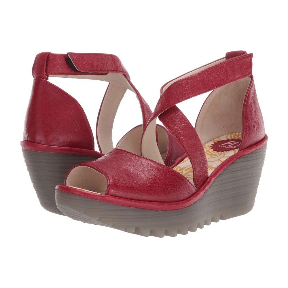 フライロンドン FLY LONDON レディース サンダル・ミュール シューズ・靴【YOSI151FLY】Lipstick Red Mousse