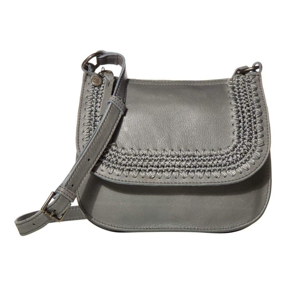 ザ サク The Sak レディース ショルダーバッグ バッグ【Playa Leather Saddle Bag】Denim Crochet Inset