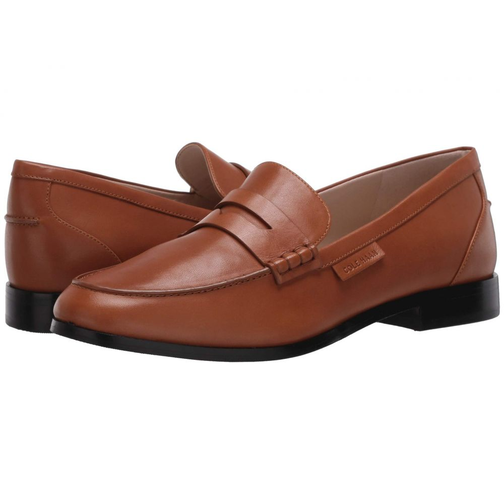 コールハーン Cole Haan レディース ローファー・オックスフォード シューズ・靴【Mckenna Penny Loafer】British Tan Burnished Leather Natural Stitch/Brown