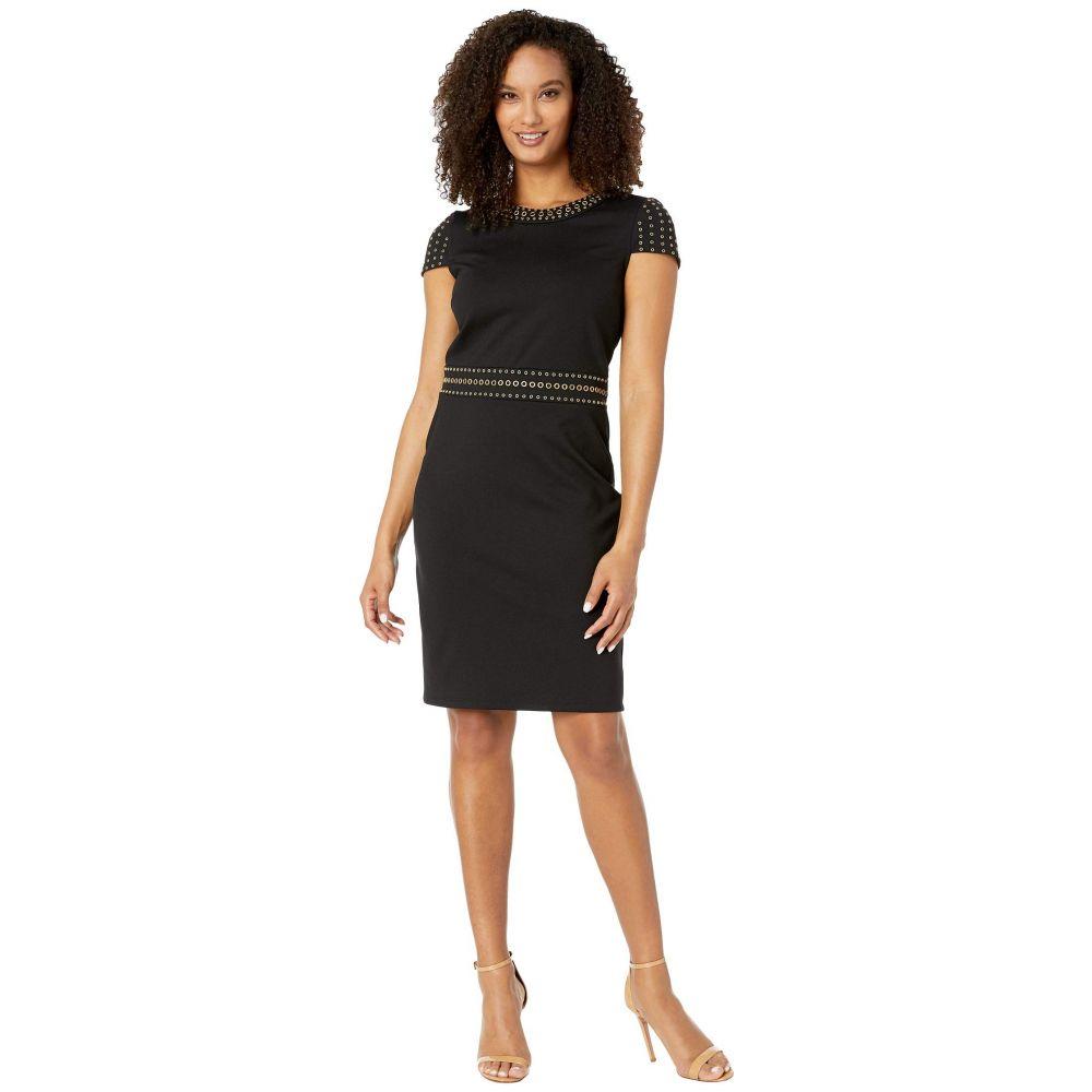 マイケル コース MICHAEL Michael Kors レディース ワンピース ワンピース・ドレス【Heat Grommet Cap Sleeve Dress】Black