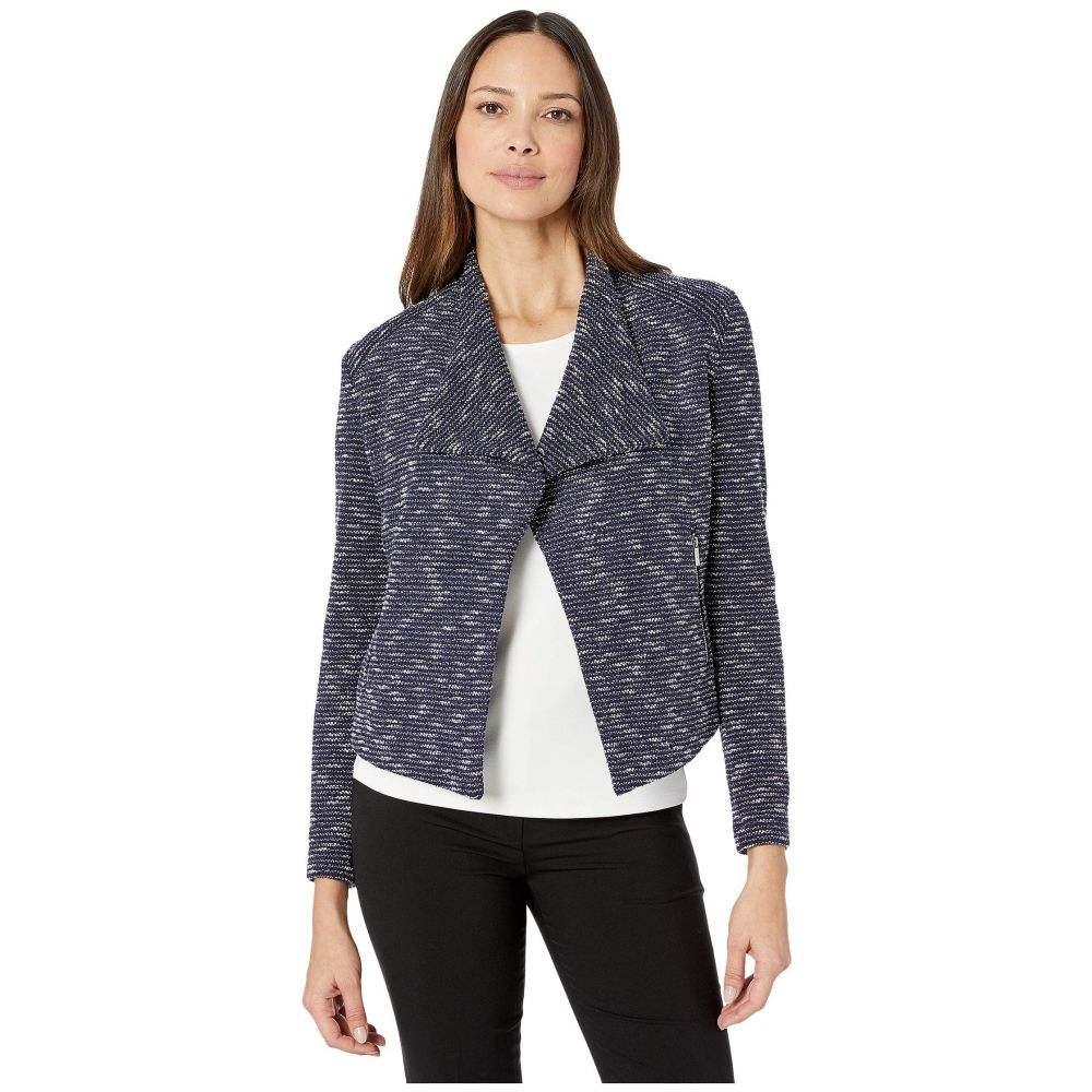 カルバンクライン Calvin Klein レディース スーツ・ジャケット アウター【Tweed Flyaway Jacket】Blue Multi