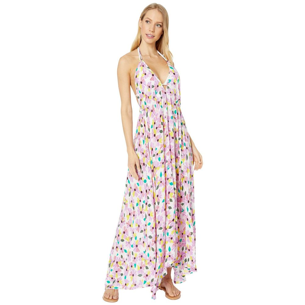 ケイト スペード Kate Spade New York レディース ビーチウェア ワンピース・ドレス 水着・ビーチウェア【Wallflower Halter Maxi Dress Cover-Up】White