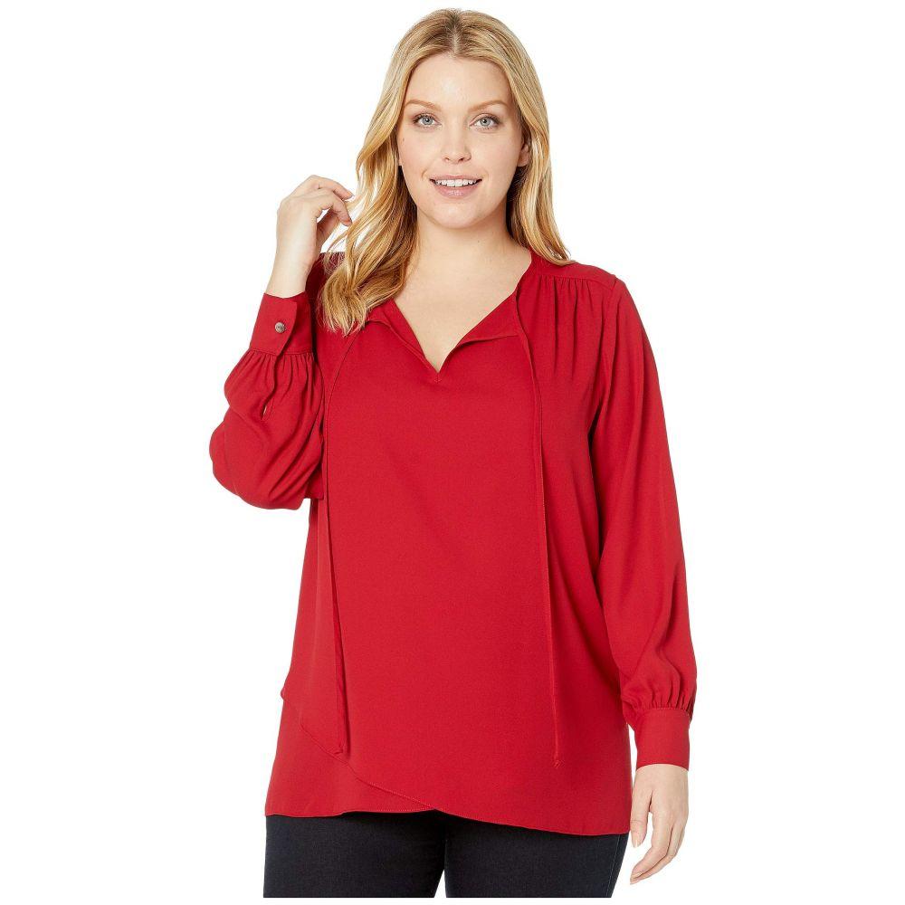 カレンケーン Karen Kane Plus レディース トップス 大きいサイズ【Plus Size Crossover Tie Top】Red