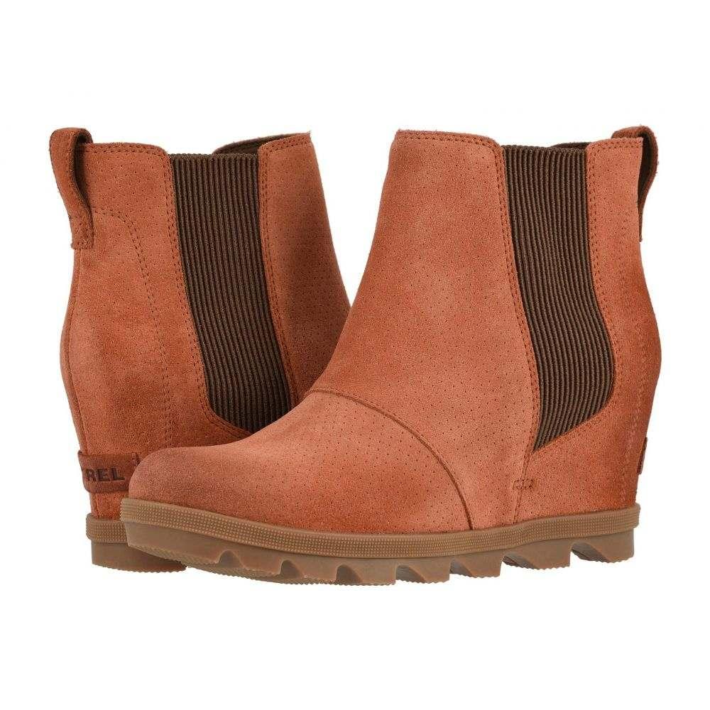 ソレル SOREL レディース ブーツ ウェッジソール シューズ・靴【Joan of Arctic(TM) Wedge II Chelsea】Teak Brown